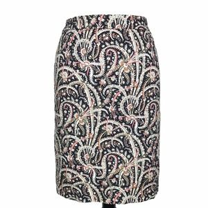 J Crew No. 2 Pencil Skirt Feather Paisley Print 0